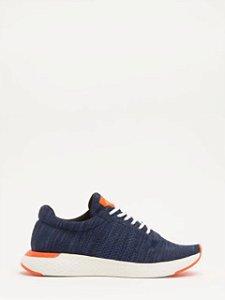 Calvin Klein Jeans Tênis Runner Tricot Liso Marinho TE927