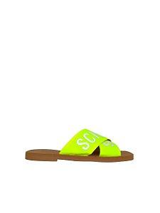 Schutz Flat Cross Amarelo Neon S2088900230004