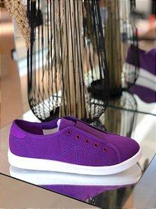 Schutz Tênis Canvas Violeta S2022601400003