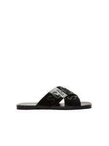 Schutz Flat Cross Jelly Black S2114400010004