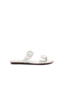 Schutz Flat Minimal Pop Buckle White S0109305140001