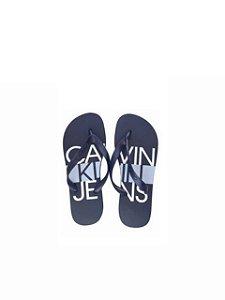 Calvin Klein Jeans Chinelo Logo Block Marinho CH427