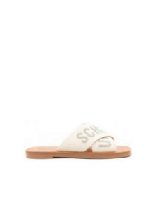 Schutz Flat Cross Glam White S2088900210002