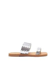 Schutz Slide Tiras Bright Silver S2088900030002