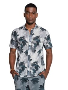 Docthos Camisa Flame Slim Estampada 604839908