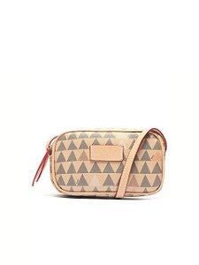 Schutz Bolsa Tiracolo New Mini Kate Triangle Bege S5001506090003