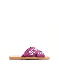 Schutz Flat Cross Violet S2088900040023