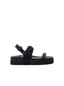 Schutz Sporty Sandal Flatform Trança Preta S2073300160001