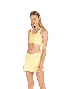 Live Fitness Saia com Shorts Sense Essential Amarelo P0016