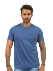 Docthos Camiseta Basic Slim Azul Indigo 623119082