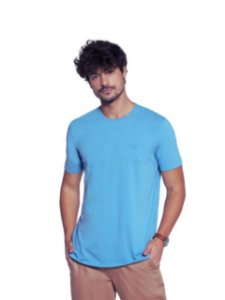 Docthos Camiseta Basic Slim Azul Celeste 623119082
