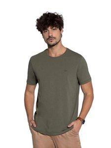 Docthos Camiseta Basic Slim Verde Militar 623119082