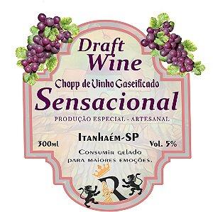 Chopp de Vinho 300ml - SENSACIONAL - Gaseificado - (Artesanal)