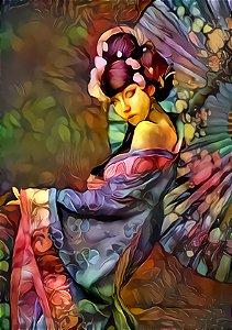 Placa Decorativa (Pessoas 01) em Cerâmica Tamanho A3 - (297mmx420mm)
