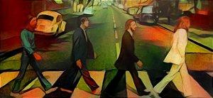 Placa Decorativa ( Beatles 02) em Cerâmica Tamanho A3 - (297mmx420mm)