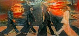 Placa Decorativa ( Beatles 01) em Cerâmica Tamanho A3 - (297mmx420mm)