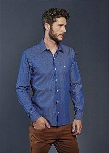 Camisa Casual Gravataria Manga Longa Azul 832-19