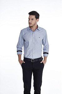 Camisa Confort Lisa Manga Longa  Plus Size 677-20