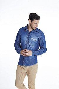 Camisa Confort Jean Manga Longa 684-20