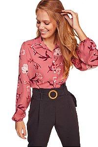 Camisa Feminina Estampada Manga Longa 214-20