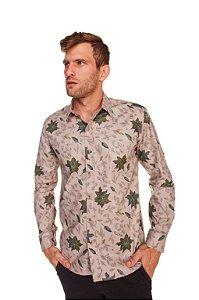 Camisa Slim Estampada Manga Longa 604-20