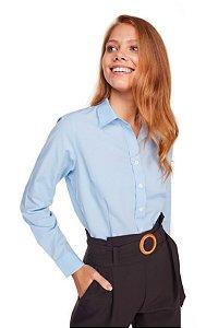 Camisa Feminina Lisa M/L Azul 3006-U