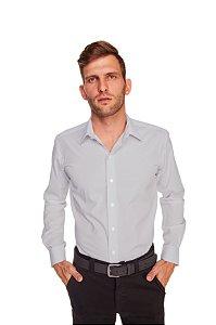 Camisa Masculina Algodão e Poliéster  M/L- Cinza