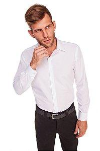 Camisa Masculina Algodão e Poliéster  M/L- Branca
