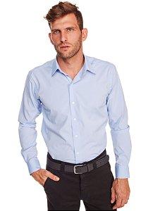 Camisasa Masculina Algodão Poliester e Elastano M/L Azul