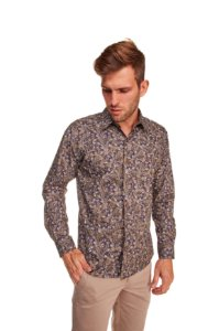 Camisa Casual Estampada Manga Longa 50-0
