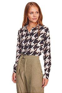 Camisa feminina estampada M/L 218-20
