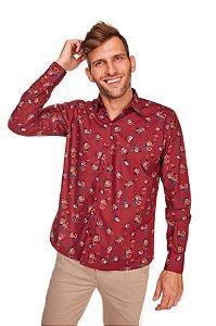Camisa Confort Estampada Manga Longa 674-20