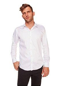Camisa Slim Lisa com Elastano M/L Branca 316-20