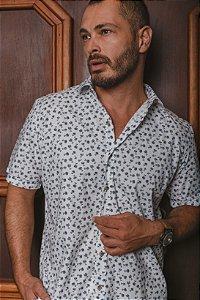 Camisa Confort Estampada  Manga Curta 564-21