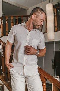 Camisa Slim Manga Curta  500-21