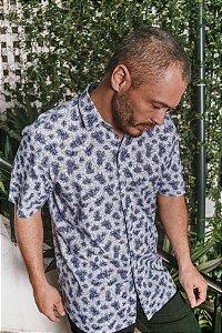 Camisa Casual Estampada Manga Curta 522-21