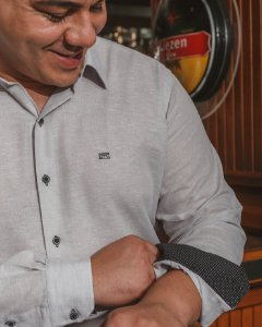 Camisa Confort Lisa Manga Longa Plus Size 667-20