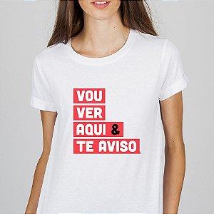 Camiseta Feminina Gola Redonda - Criativa