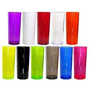 100 Copos Long Drink 350ml - Translucidas s/personalização