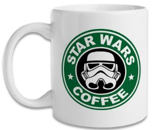 Caneca Porcelana Star Wars Coffee