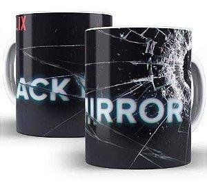 Caneca Porcelana Black Mirror - Frete Grátis