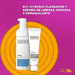 KIT-  VITAFACE CLAREADOR + ESPUMA DE LIMPEZA CREMOSA E DEMAQUILANTE