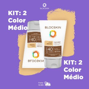 KIT: 2- BLOCSKiN FPS 40 COLOR MÉDIO