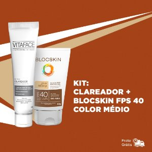 KIT: VITAFACE CLAREADOR + BLOCSKiN FPS 40 COLOR MÉDIO