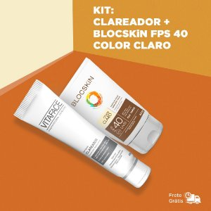 KIT: VITAFACE CLAREADOR + BLOCSKiN FPS 40 COLOR CLARO