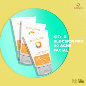 KIT: 3 - BLOCSKiN FPS 40 ACNE FACIAL