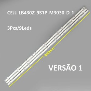 Kit Barra de LED TV Philips AOC 43S5295, 43S5295/78G, 43PFG5813, 43PFG5813/78