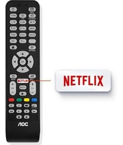 Controle Remoto Smart TV AOC LE32S5760 LE32S5970 LE39S5970 LE43S5760 LE43S5970 LE43S5977 LE43U7970 LE49S5970 LE50S5970 LE50U7970 LE55U7970
