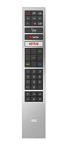 Controle Remoto Smart TV AOC 32S5295/78G 43S5295/78G 50U6295/78G 55U6295/78G