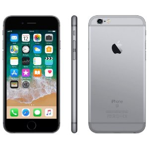 iPhone 6s Apple com 3D Touch, iOS 11, Sensor Touch ID, Câmera iSight 12MP, Wi-Fi, 4G, GPS, Bluetooth e NFC, 32GB, Cinza Espacial, Tela 4,7""